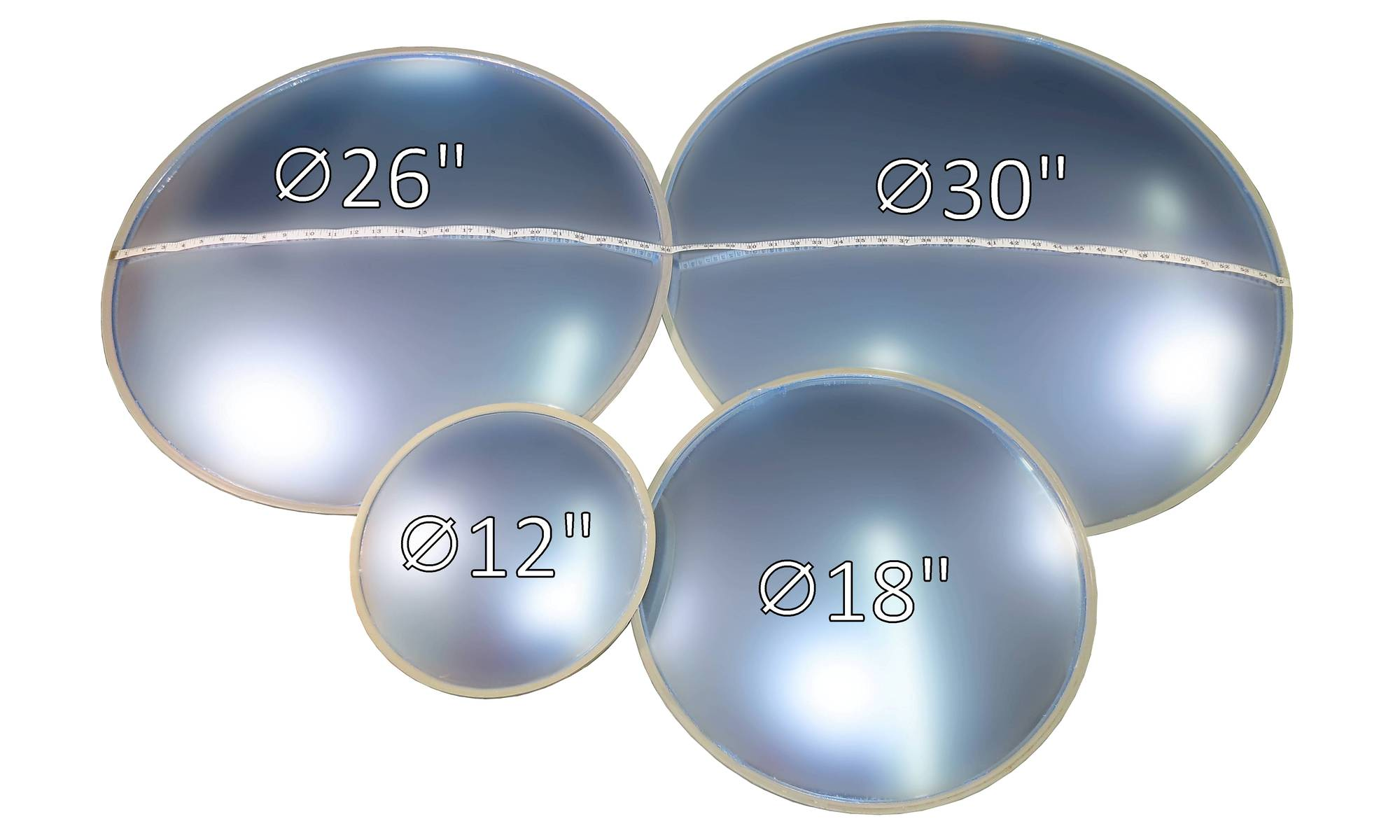 Convex mirror presentation 100 degrees, M64.